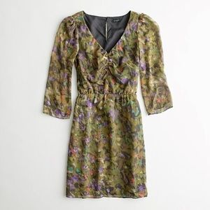 J. Crew Factory 100% Silk Floral Dress